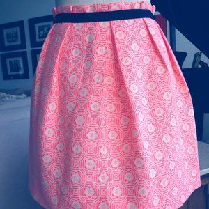Sandro Pink/Coral/Cream Summer skirt